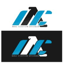 Logo MAC CUSTOM STICKER