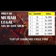 Jual top up diamond free fire - Kab  Jepara - Pelet PENCAKAR   Tokopedia