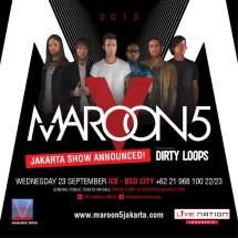 Tiket Konser Maroon 5