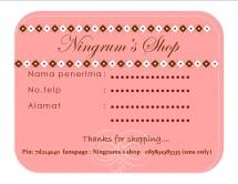 Ningrum's shop