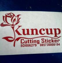 kuncup cutting sticker