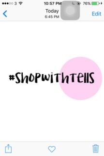 #shopwithtells