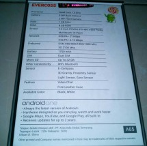 evecross android one a65