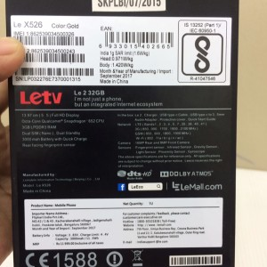 New Leeco Le X526 Ram 3gb Rom 32gb Garansi Distributor 1 Tahun Tokopedia
