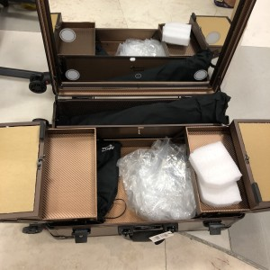 Masami Shouko Koper Makeup Tas Kosmetik Beauty Case Lampu Tokopedia