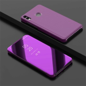 Clear view honor 8x miror sarung flip case full cover