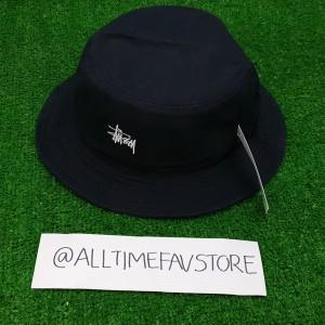 Jual Topi Stussy Washed Logo Bucket Hat Black Original BNWT 6101fdbf0f