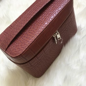 Diskon Tas Cosmetic Kosmetik Leather Bag Box Make Up Tokopedia