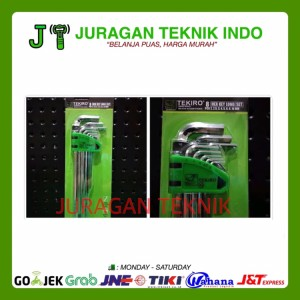 Jual Tekiro Kunci L Panjang - Hex Key Long Set 8 pcs 2 - 10 mm