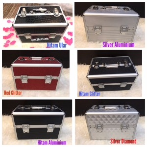 Beauty Case Tempat Makeup Kotak Kosmetik 357 Merah Tokopedia