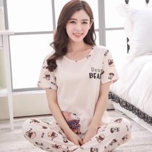 Set Piyama Wanita Pajamas Baju Tidur Doraemon Bell Navycp Tokopedia