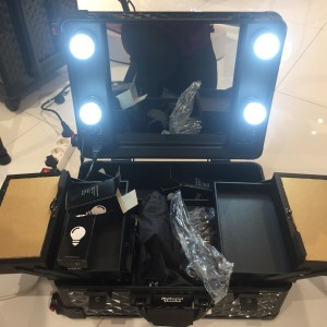 Masami Shouko Beauty Case Koper Make Up Tempat Kosmetik Lampu Tokopedia