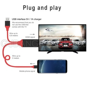 Usb C To Hdmi Cable High Resolution 4k Support Smartphone Tablet Laptop Tokopedia