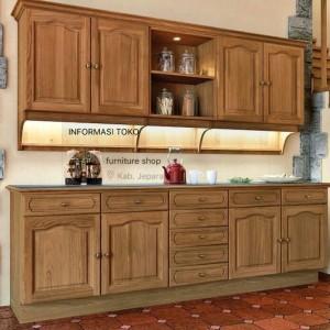 Daftar Harga Kitchen Set Lemari Dapur Kayu Jati Belanda Pinus Mewah