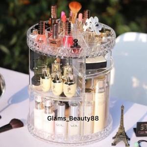 Rak Organizer Kosmetik Makeup Putar 360derajat Tokopedia