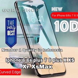 Tempered glass 10D iphone X XS full screen 6D 5D 3D premium japan