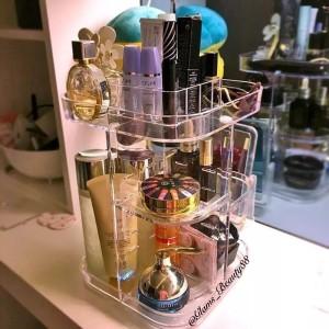 Rak Organizer Acrylic Makeup Square Rotating 360 degree