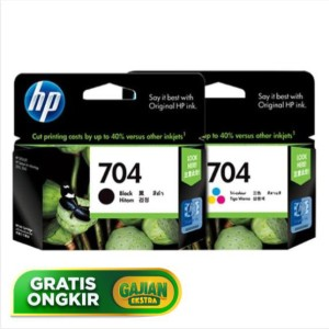 Paket Cartridge HP 704 Black+Tricolor Original