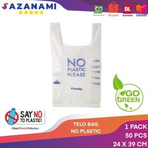 KANTONG TELOBAG 24 X 39CM PLASTIK BIODEGRADABLE ECO FRIENDLY 50 PCS