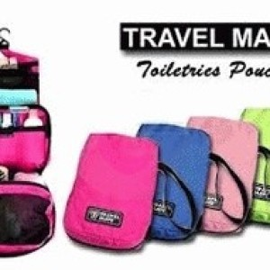 Travel Pouch Bag Traveling Bag Tas Kosmetik Multifungsi Tokopedia