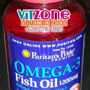 PURITAN'S PRIDE Omega 3 Fish Oil 1200 mg (trdpt 360mg Omega Aktif)