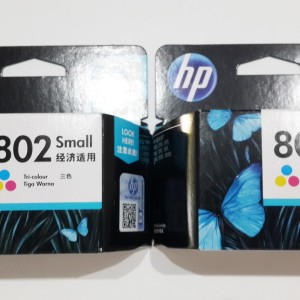 Hp 802 Cartridge Color Original Tokopedia