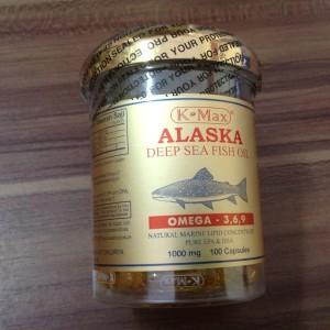 Jual K-MAX ALASKA OMEGA 3 6 9 DEEP SEA FISH OIL / MINYAK IKAN