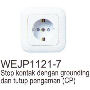 Stop Kontak Arde Panasonic Full color Wide Series WEJP1121-7