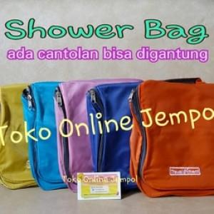 Tas Kosmetik Shower Bag Toilet Bag Shampoo Toilette Shower Set Waterpr Tokopedia
