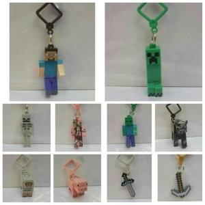 Gantungan Kunci / Hanger Minecraft set isi 10