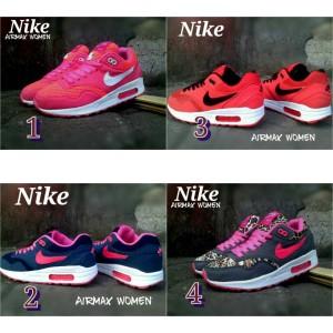 Jual Sepatu Olahraga Nike Airmax Women Wanita Merah Pink Unggu Merah putih 9736288c1e