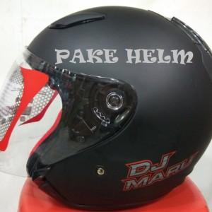 Helm Kyt Dj Maru Solid Orange Black Tokopedia