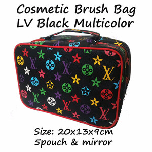 Cbb Lv Black Multicolor Cosmetic Brush Bag Tas Kosmetik Branded Tokopedia