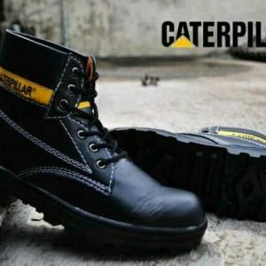 Sepatu Caterpillar Sefty Hitam Licin Tokopedia