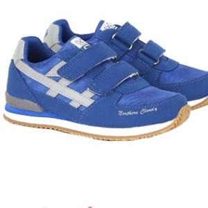 Sepatu Sekolah Anak Perempuan Sneaker Perekat Galletti White Purple Tokopedia