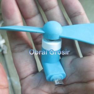 Kipas Angin Mini Micro Otg Portable Mini Fan For Android Kipas Hp Tokopedia