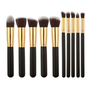 Kuas Kosmetik Make Up Cosmetic Make Up Brush 11 Set With Pouch Tokopedia