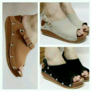 Sepatu Sandal Wedges Wanita Tokopedia