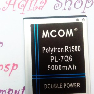 Baterai batre battery Polytron Rocket Q Five R1500 PL7Q6 Dobel Power