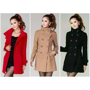 Mantel Coat Baju Hangat Reysotic Red Tokopedia