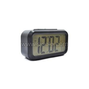 Digital Alarm Clock With Led Light Black Tokopedia
