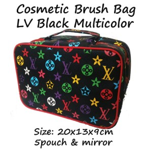 Cbb Lv Black Multicolor Cosmetic Brush Bag Tas Kosmetik Branded Tokopedia