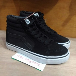 Jual Sepatu Vans Sk8 Skate Hi High Black Hitam Dope Ori Premium cef8909a63