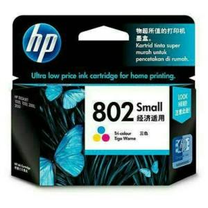 Tinta Cartridge Hp 802 Color Original Tokopedia