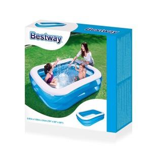 Kolam Renang Anak Bestway Blue Rectangular Family Pool 201cm #54005
