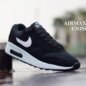 Jual Sepatu Murah Nike Airmax One Unisex Hitam Lis Putih Original Vietnam fc742452de