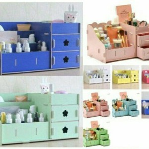 Kotak Kosmetik Kayu Cosmetic Storage Box Kosmetik Tokopedia