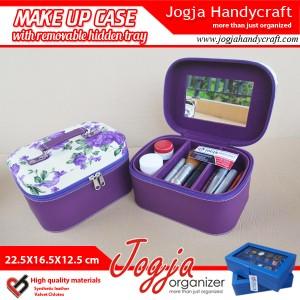 Cantik Tas Tempat Kosmetik Tray Dalam Motif Bunga Purple Tokopedia