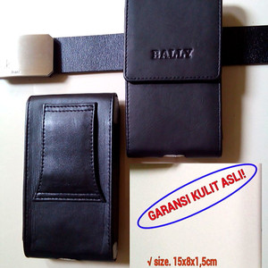 Tempat Dompet Sarung Smartphone Tas Full Kulit Bally Muat Hp 5 Inchi Tokopedia