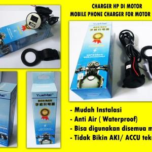 Casan Hp Di Sepeda Motor Usb Charger Cell Phone Netpor Tokopedia